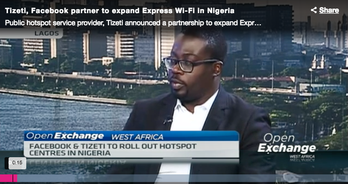 CNBC Interview on Tizeti and Facebook partnership on Express Wi-Fi
